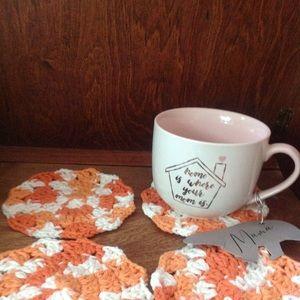 Set of 4 Lg Crochet Coasters - Handmade by Cricket